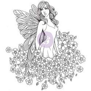 "Lauren - Prima Princesses Cling Stamp 5""X7"""