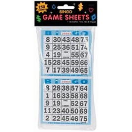 "250 Games - Bingo Game Sheets 4""X8"" 125/Pkg"
