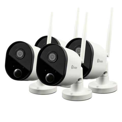 Outdoor Security Cameras, 4 Pack: 1080p Full HD