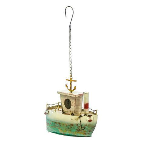 Hanging Boat Birdhouse