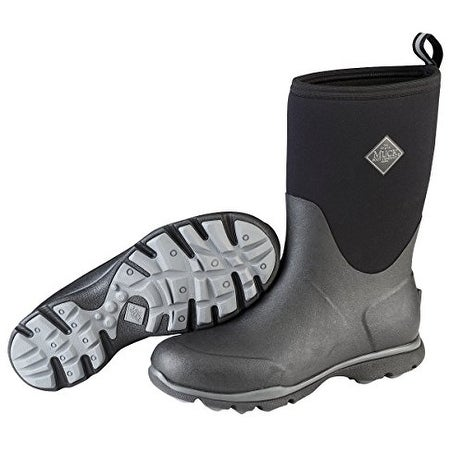 Muck Boots Black Men's Arctic Excursion Mid Boot w/ Fleece Lining - Size 15