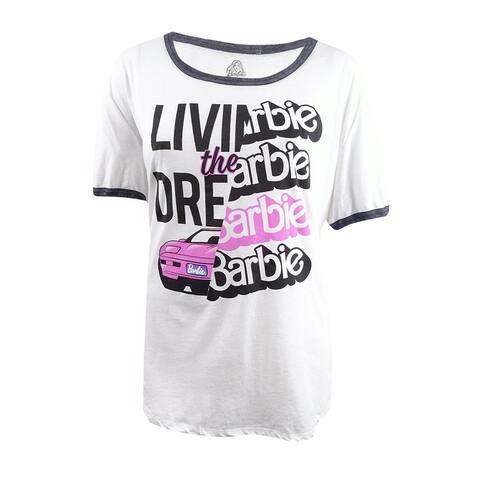 Hybrid Women's Trendy Plus Size Livin The Dream Graphic T-Shirt (3X, Ivory) - Ivory - 3X