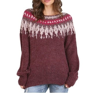 Free People Baltic Fairisle Long Sleeve Sweater - L