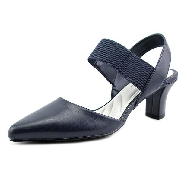 Easy Street Vibrant Women W Pointed Toe Synthetic Slingback Heel