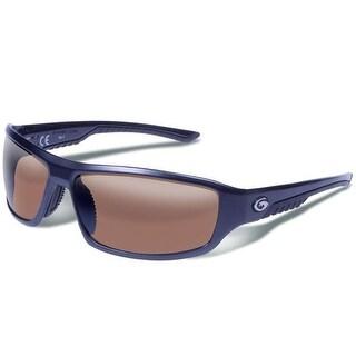 Gargoyles Prevail Polarized Sunglasses Matte Dark Gun Frame /Brown w/ Silver Mirror