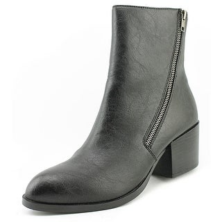 Very Volatile Adare Women Round Toe Synthetic Black Ankle Boot