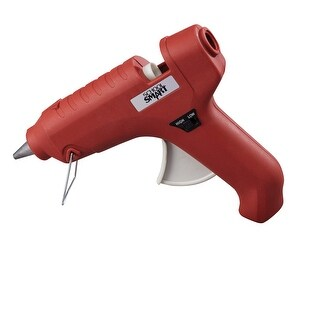 School Smart Full Size Dual Temperature Glue Gun, 40 W, 7/16 Inch Glue Sticks, Red