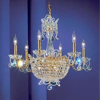 """Classic Lighting 69786-GP 22"""" Crystal Chandelier from the Crown Jewels Collection"""