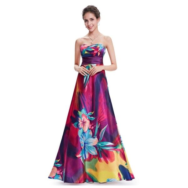 Shop Multi Coloured Floor Length Floral Print Open Back Bridesmaid ... 419d11483fa2