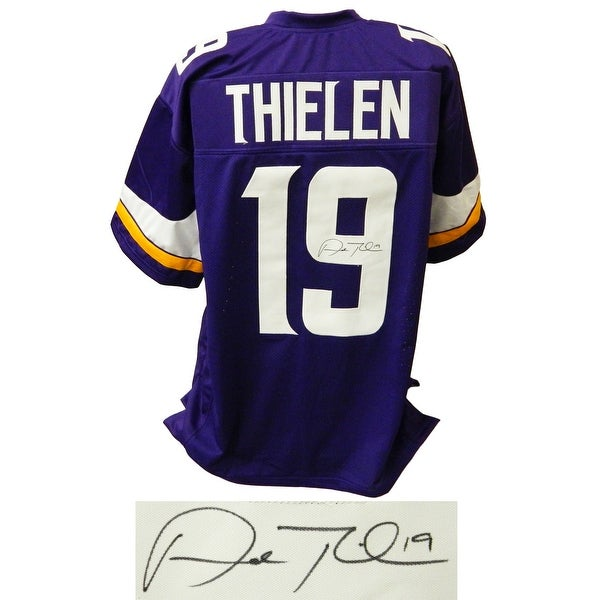 huge discount 09fb4 85d9c Adam Thielen Purple Custom Football Jersey