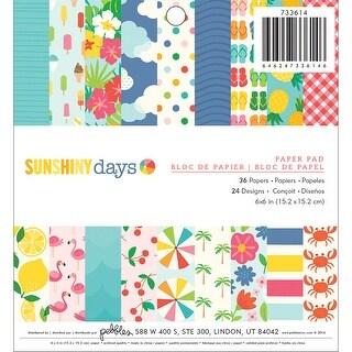 "Pebbles Single-Sided Paper Pad 6""X6"" 36/Pkg-Sunshiny Days"