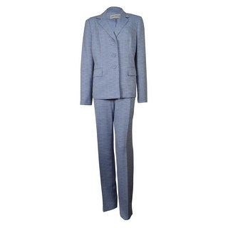 Evan Picone Women's Classic Time Woven Pant Suit - NAVY/WHITE