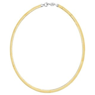 Reversible Avolto Omega Chain Necklace in 10K Gold-Bonded Sterling Silver - Two-tone