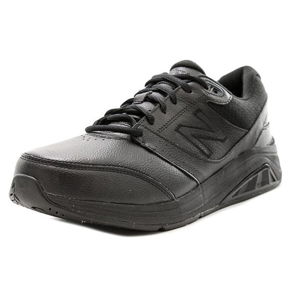 New Balance WW928 Women 2A Round Toe Leather Black Sneakers