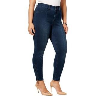 Seven7 Womens Pencil Jeans Denim Dark Wash
