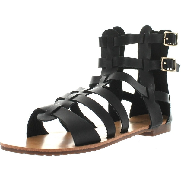 De Blossom Collection Womens Xara-4 Ankle High Fashion Gladiator Sandals