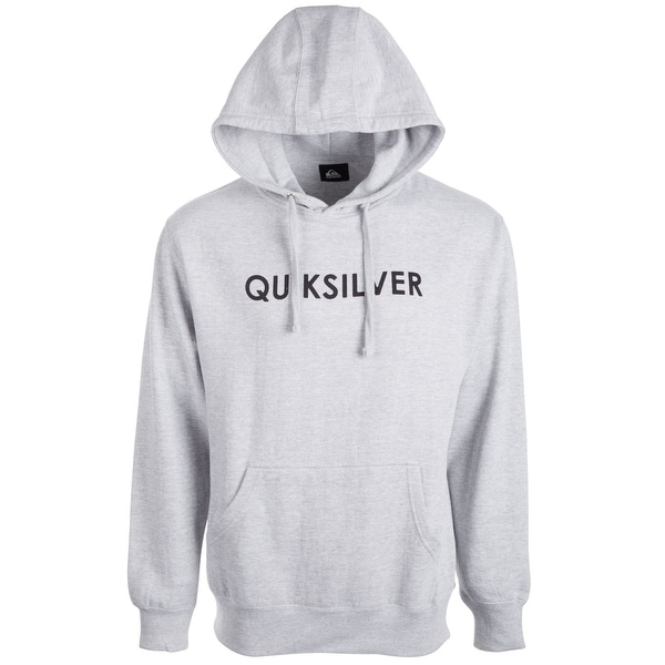 Quiksilver Mens Sweater Heather Gray Size Small S Hooded Logo Fleece. Opens flyout.