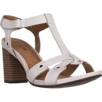 Clarks Banoy Valtina Cushion T-Strap Dress Sandals, White