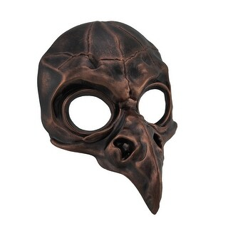 Metallic Crow Skull Half Face Steampunk Bird Mask