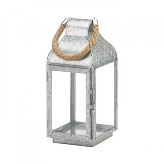 Link to Round Top Galvanized Farmhouse Lantern Similar Items in Decorative Accessories