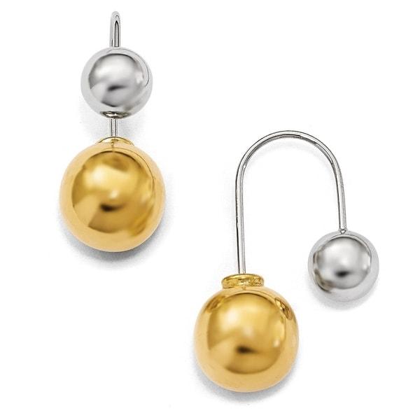 Italian Sterling Silver & Gold-tone Dangle Earrings