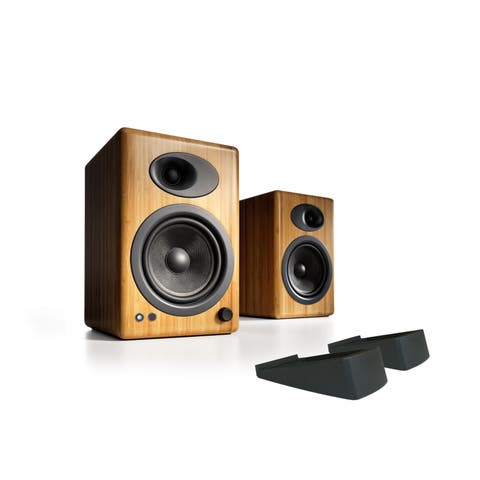 Audioengine A5+ Classic Powered Bookshelf Speakers With Stands - Pair