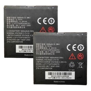 Replacement Battery for ZTE Li3717T43P3h565751 (2-Pack) Replacement Battery