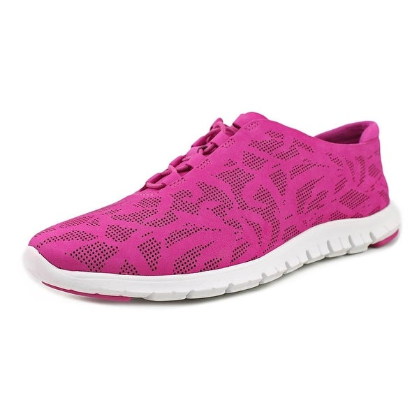 Cole Haan Zerogrand Perf Trainer Women Round Toe Leather Pink Walking Shoe
