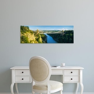 Easy Art Prints Panoramic Image 'Clifton Suspension Bridge, Avon Gorge, Bristol, England' Canvas Art