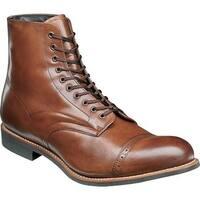 Stacy Adams Men's Madison Cap Toe Boot Cognac Kidskin Leather
