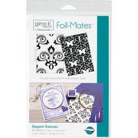"Gina K Designs Foil-Mates Background 5.5""X8.5"" 10/Pkg-Elegant Damasks"