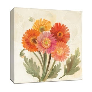 """PTM Images 9-152581  PTM Canvas Collection 12"""" x 12"""" - """"Summer Gerberas II"""" Giclee Flowers Art Print on Canvas"""
