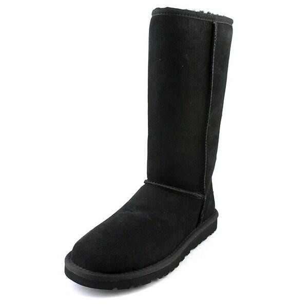 Ugg Australia Classic Short Women Round Toe Suede Black Winter Boot