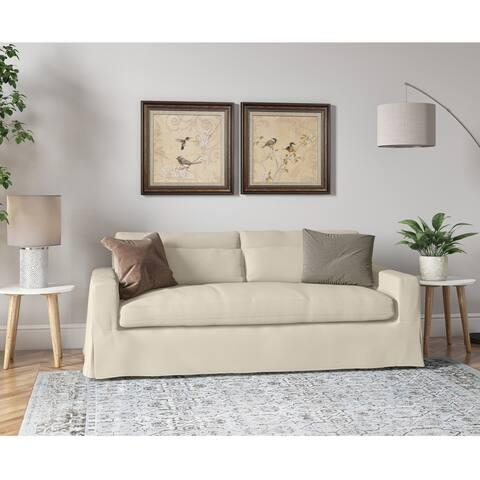 Copper Grove Latimer Skirted Slipcovered Sofa