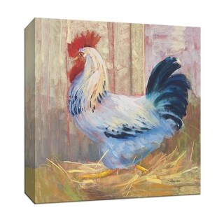 """PTM Images 9-153052  PTM Canvas Collection 12"""" x 12"""" - """"Hercule"""" Giclee Roosters Art Print on Canvas"""