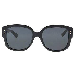 Christian Dior LADYDIORSTUDS 0807 Black Square Sunglasses - 54-18-140