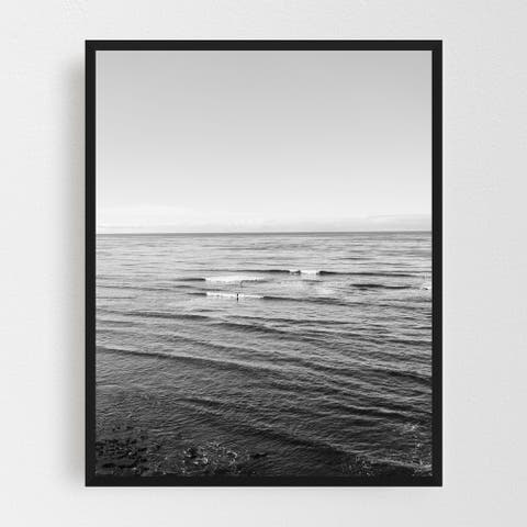 San Diego California Beach Landscape Framed Wall Art Print