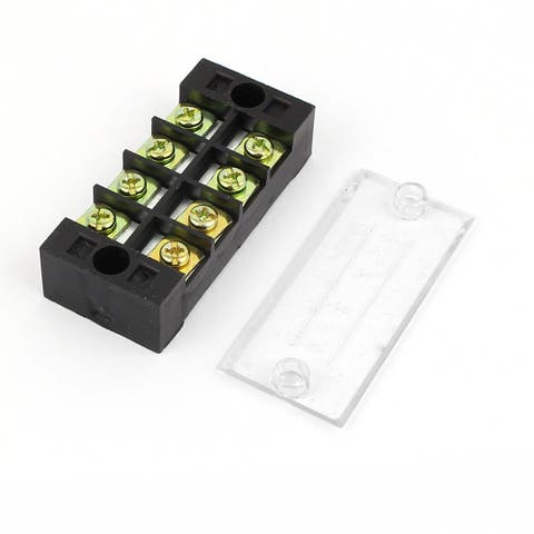 600V 25A 4P Screw Electric Barrier Terminal Block Cable Connector Strip