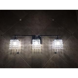 Otis Designs 3-Light Chrome/ Crystal Wall Sconce