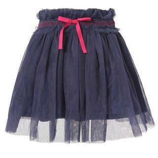 Richie House Girls' Magenta Tulle Skirt with Purple Accents