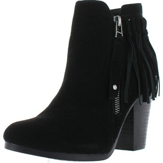 Breckelle's Gail-26 Women's Belted Chunky Stacked Heel Ankle Booties - Black