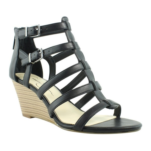 0227bdad8dc50 Shop Jessica Simpson JS-SHALON-002 Black Open Toe Womens Heels Size 7 New -  Free Shipping On Orders Over $45 - Overstock - 22971371
