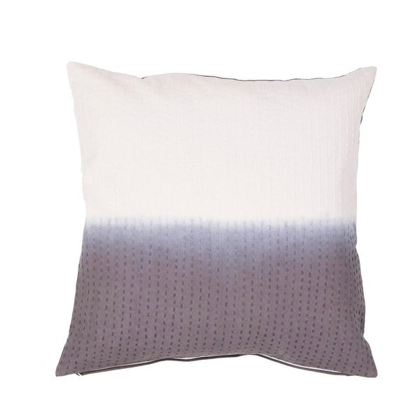 "20"" Misty Gray and Vanilla White Two Tone Abstract Pattern Decorative Throw Pillow"