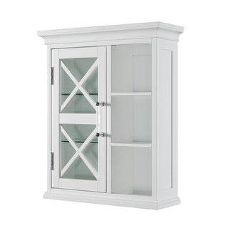 Elegant Home Fashions Blue Ridge Wall Cabinet with Cubbies in White