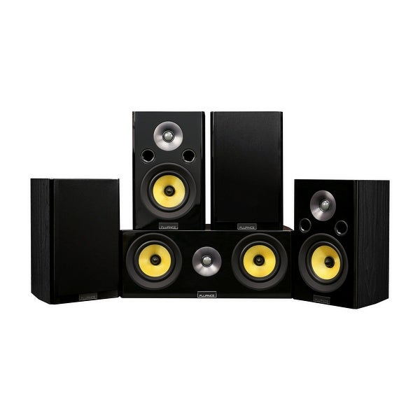 Fluance Signature Series Compact Surround Sound Home Theater 5.0 Channel System - Black Ash (HF50BC)