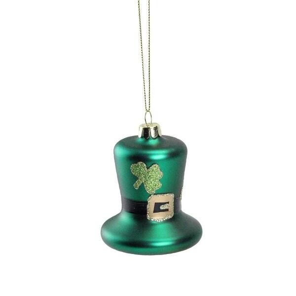 "3"" Luck of the Irish Green and Gold Leprechaun Hat Christmas Ornament"