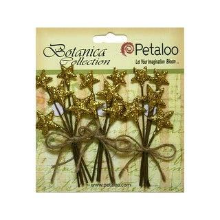 Petaloo Botanica Holiday Pick Glitter Star Gold