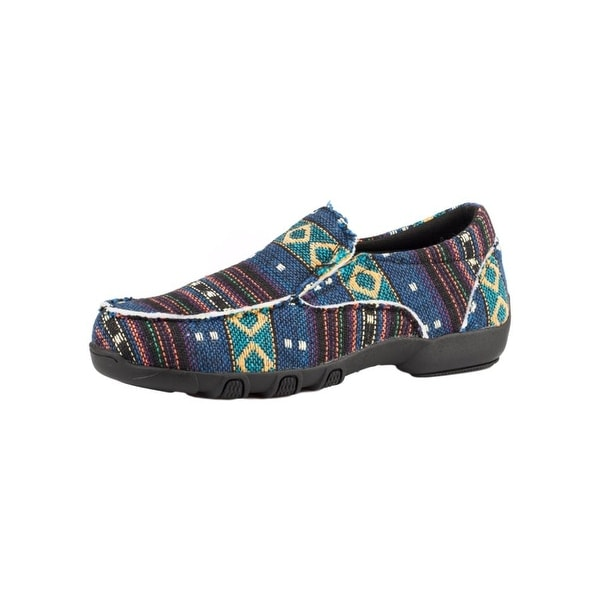 Roper Western Shoes Womens Johnnie Slip On Rubber