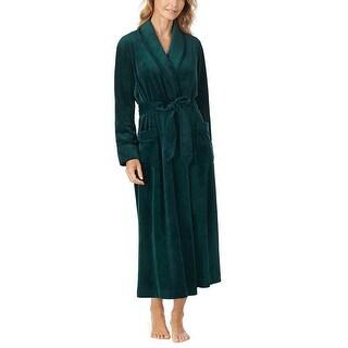 Carole Hochman Women's Plush Luxe Velour Long Wrap Bathrobe
