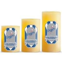 Duckhouse  MLB Los Angeles Dodgers 3-Piece LED Candle Gift Set